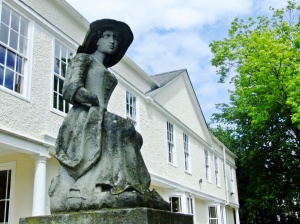 A shepherdess overlooking the garden at Lauderdale House